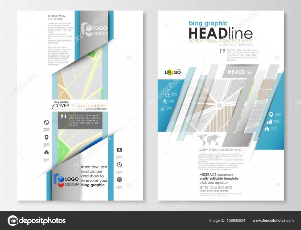 Blog-grafische Business-Templates. Seite, leicht bearbeitbare Layout ...