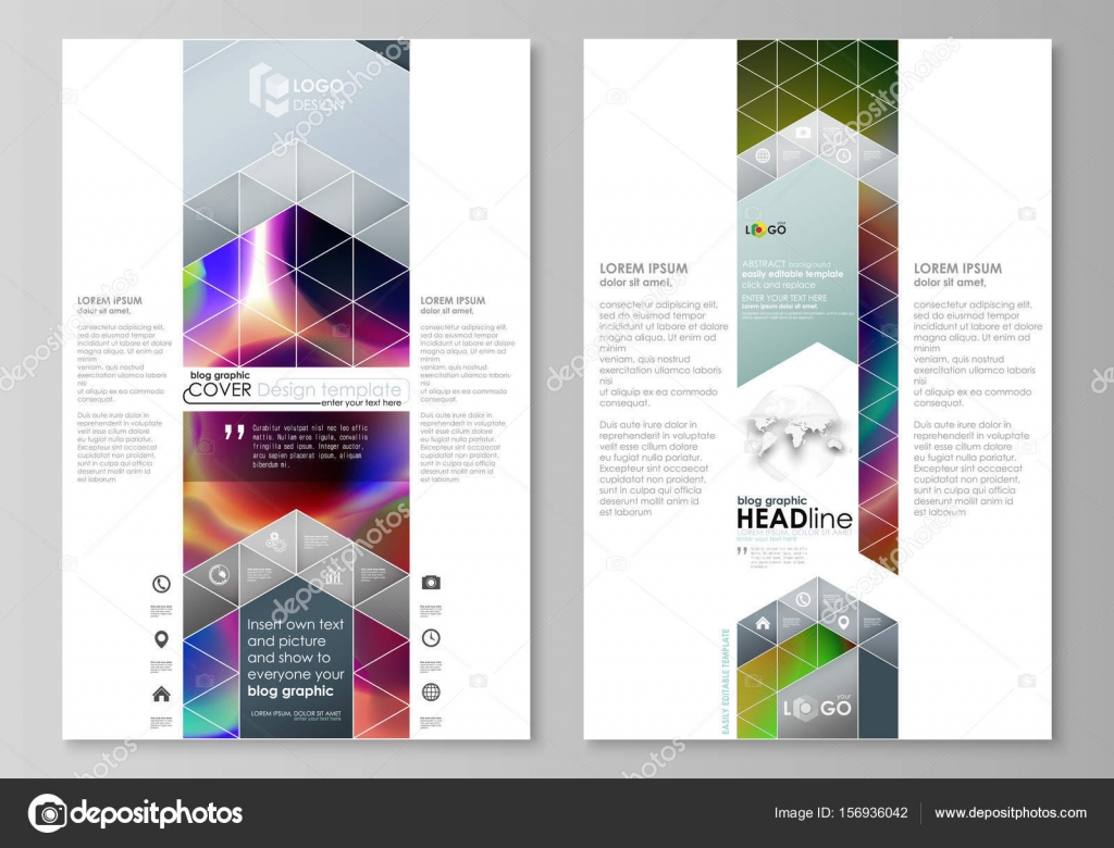 Blog graphic business templates. Page website template, easy ...