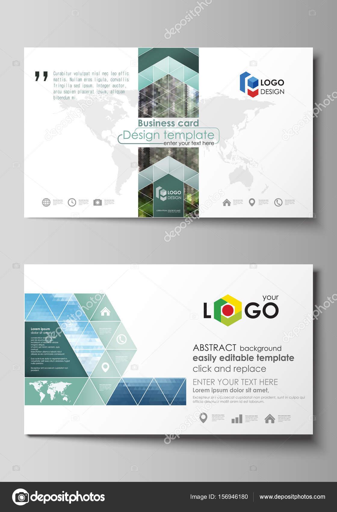 Plantillas de tarjeta de visita. Fácil diseño editable, plantilla de ...
