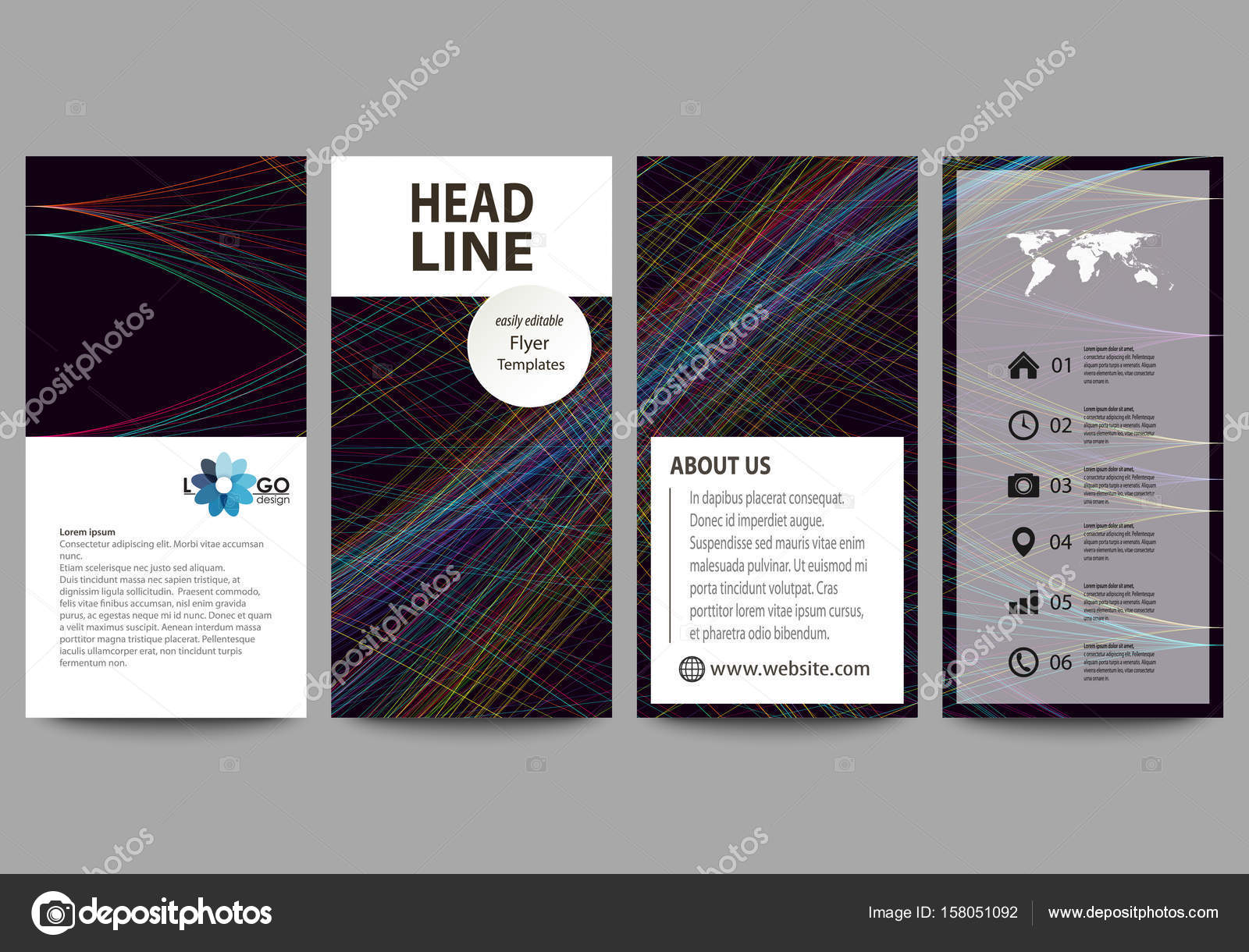 Sistema de flyers, banners moderno. Plantillas de negocios ...