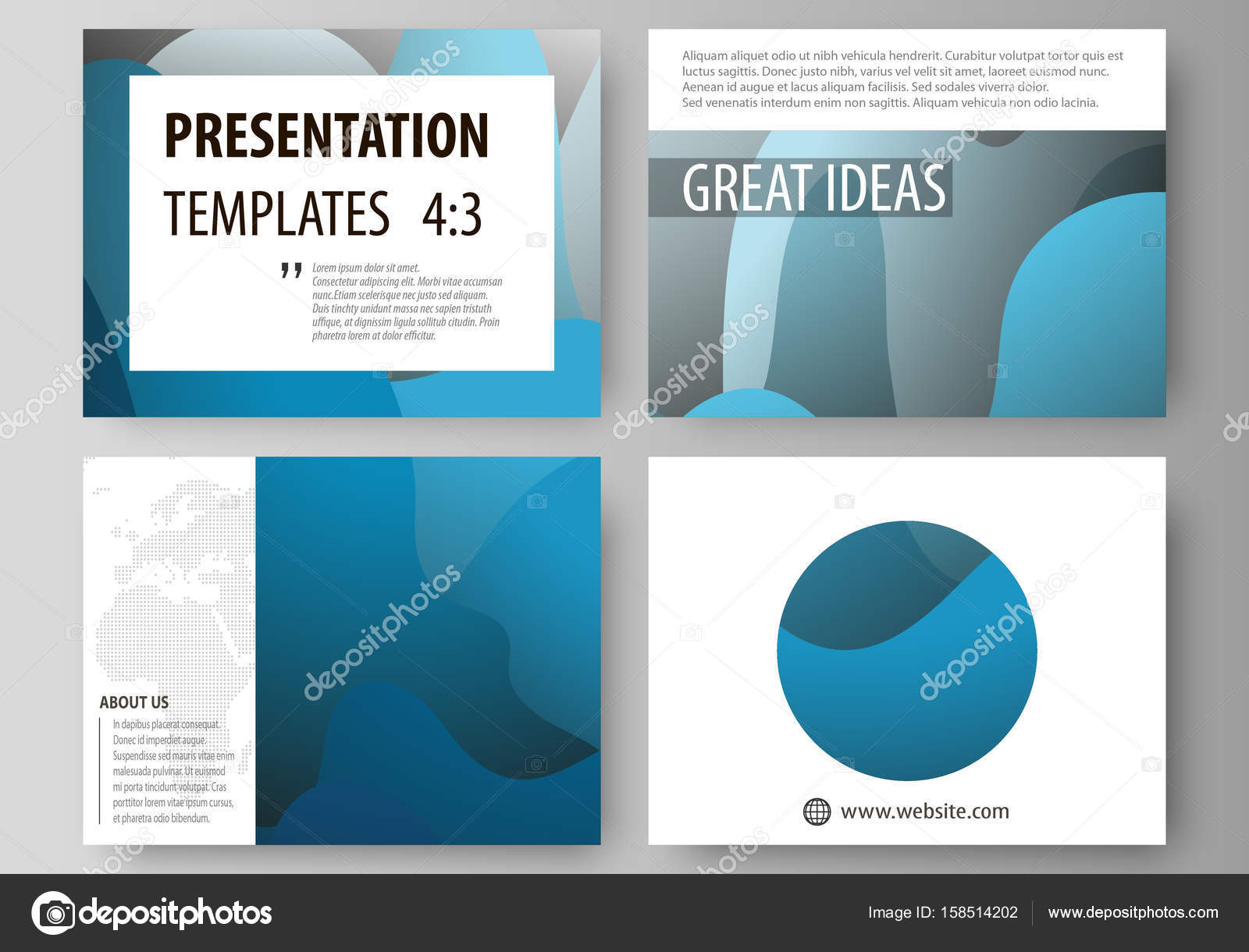 Business templates for presentation slides. Easy editable layouts in ...