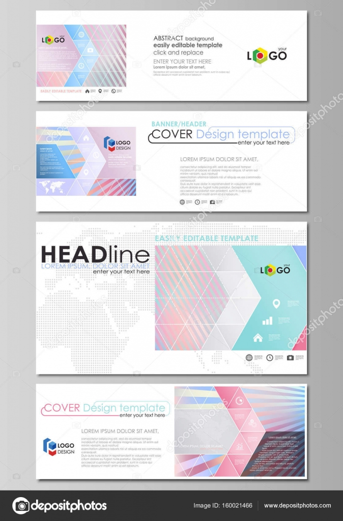 Social Media And Email Headers Set Modern Banners Business - Pretty email templates