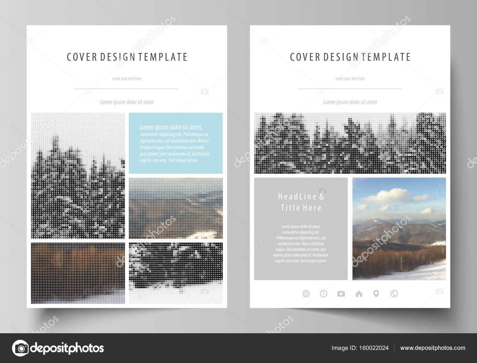 business templates for brochure magazine flyer booklet report
