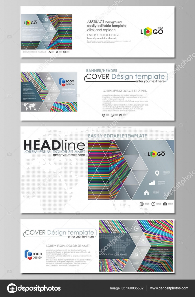 Social Media And Email Headers Set Modern Banners Business Templates Easy Editable Abstract Design Template Vector Layouts In Popular Sizes