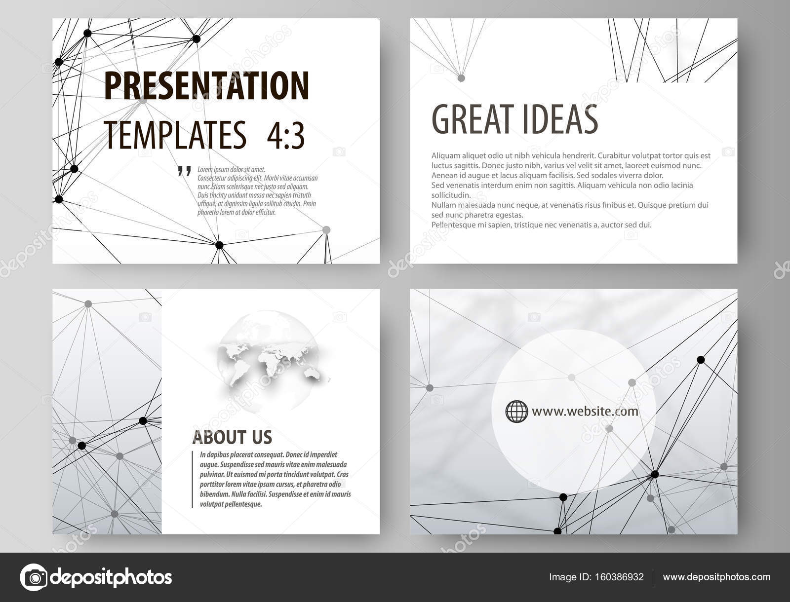 Set of business templates for presentation slides easy editable easy editable abstract vector layouts in flat design dna and neurons molecule structure medicine science technology concept ccuart Image collections