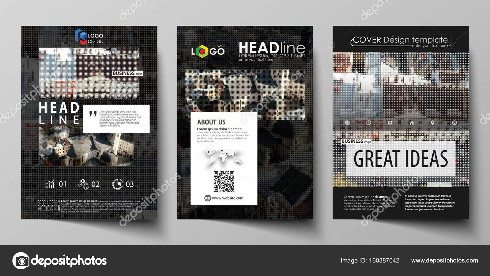 Plantillas de negocio para folleto, revista, folleto, informe ...