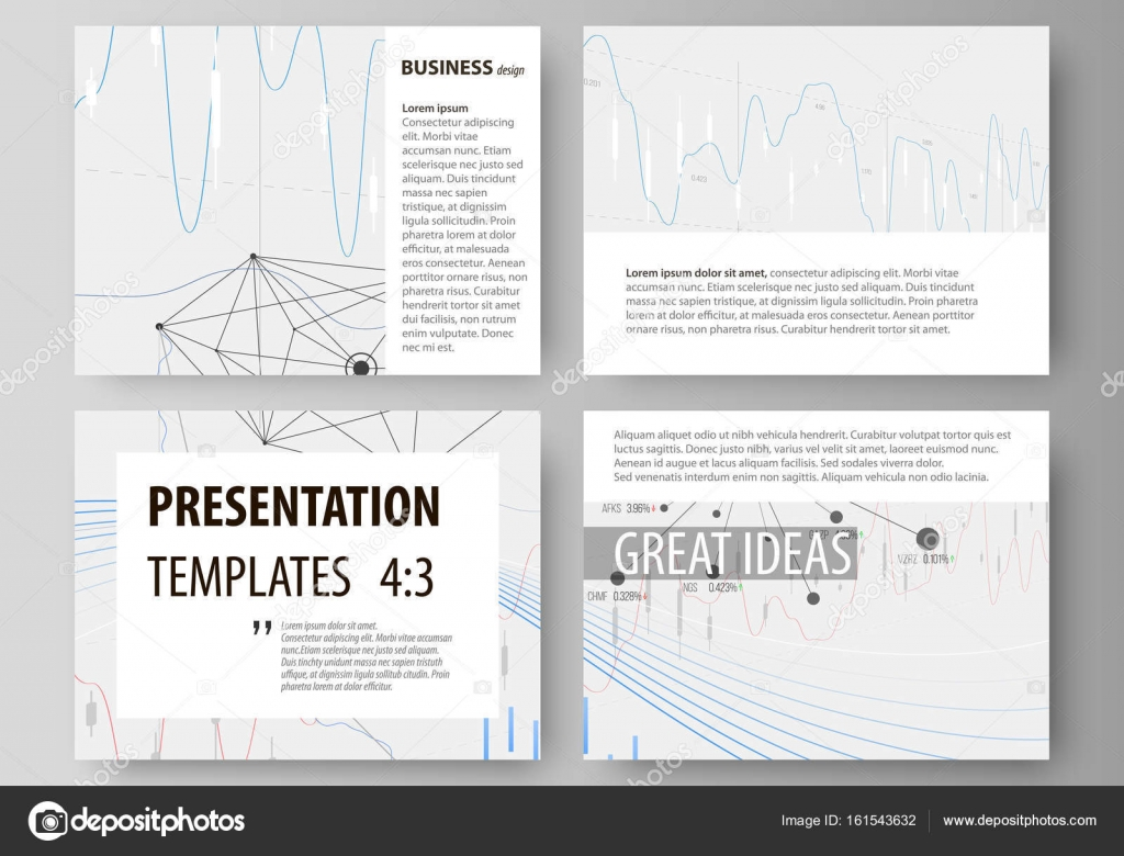 Business templates for presentation slides. Vector layouts. Abstract ...