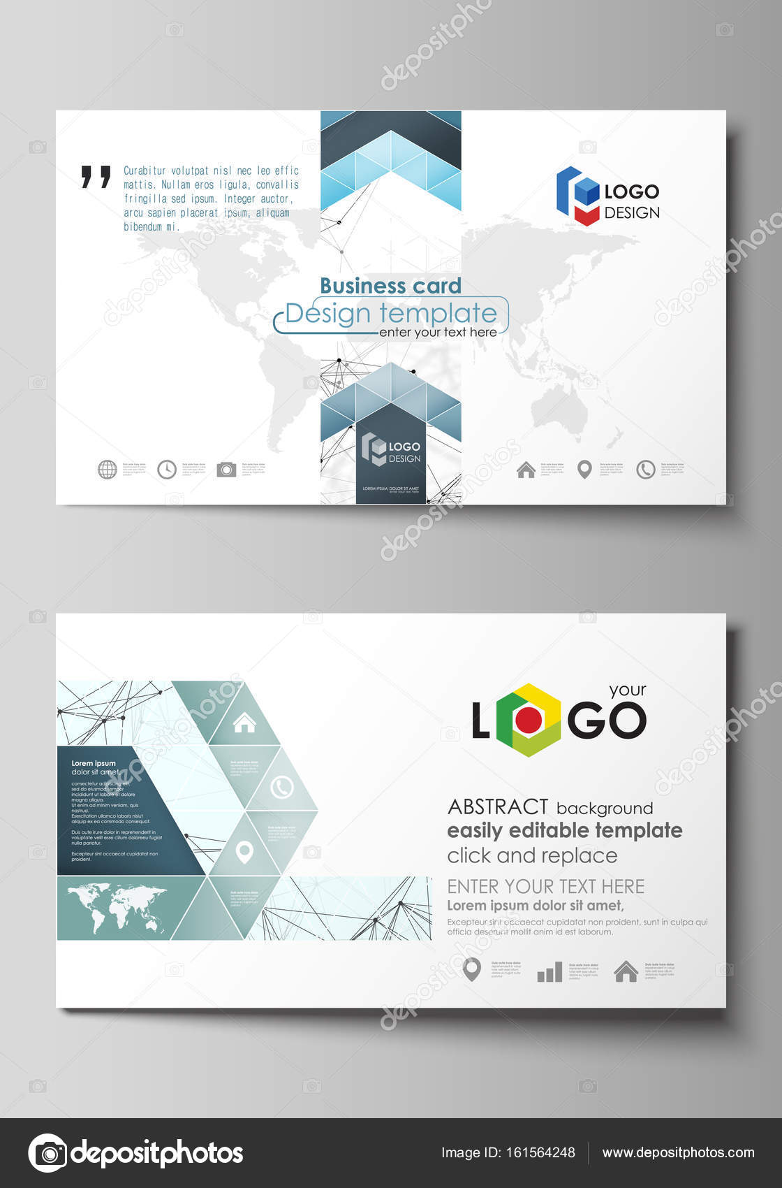 Business card templates easy editable layout abstract vector business card templates easy editable layout abstract vector design template chemistry pattern connecting lines and dots molecule structure on white wajeb Images