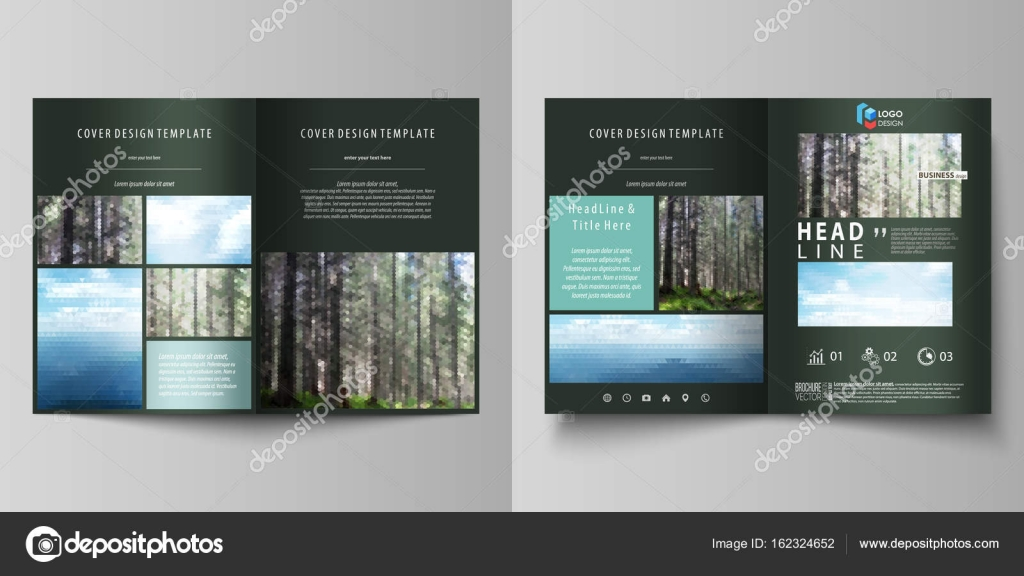 templates for bi fold brochure flyer booklet or report cover
