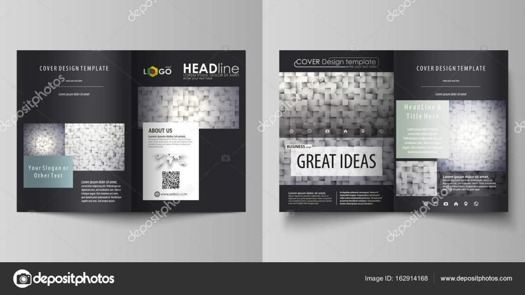 Plantillas de negocio para bi doblan folleto, flyer, folleto ...