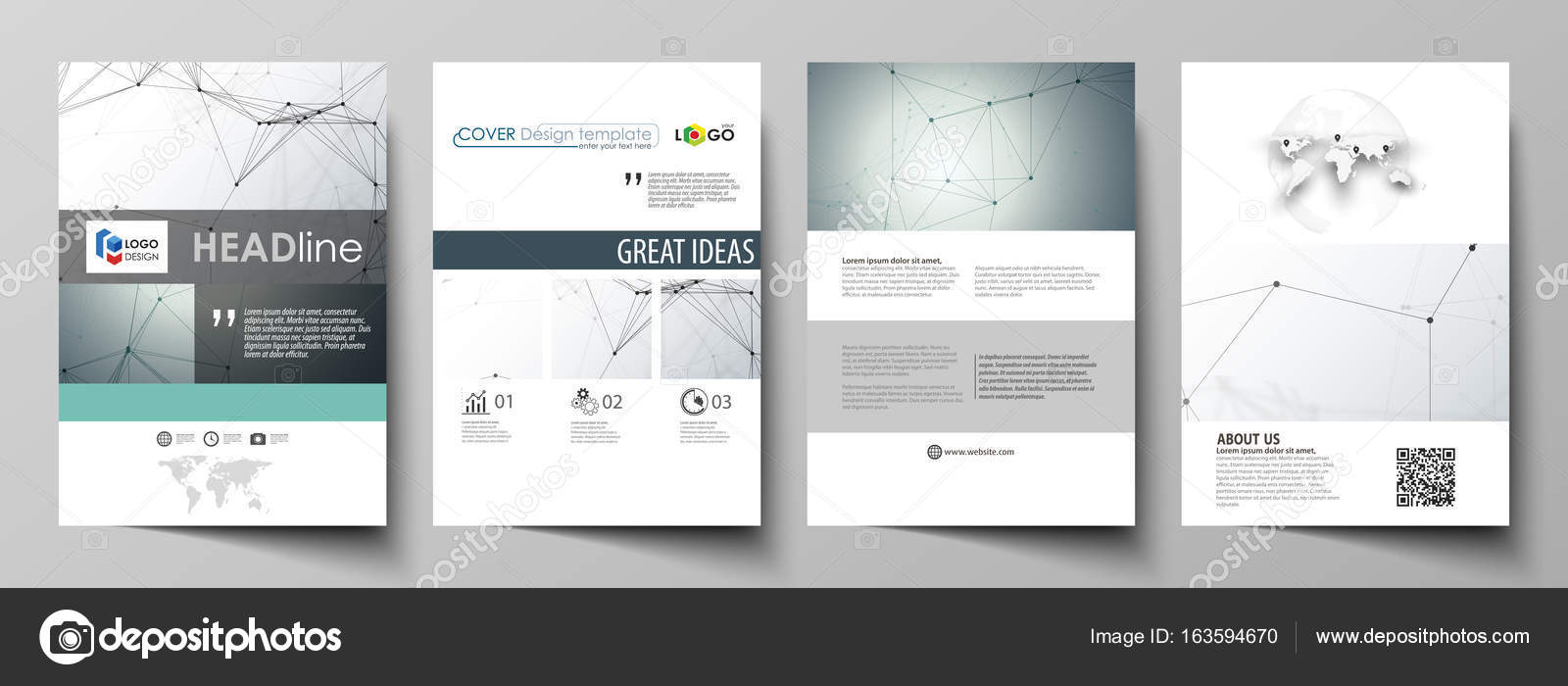 Business templates for brochure, magazine, flyer. Cover design ...