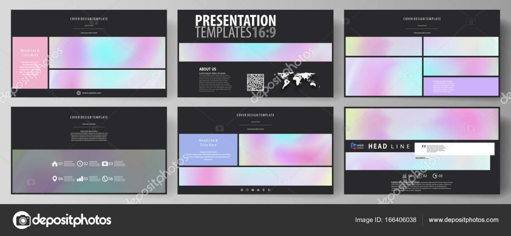 Business templates in HD format for presentation slides. Vector ...
