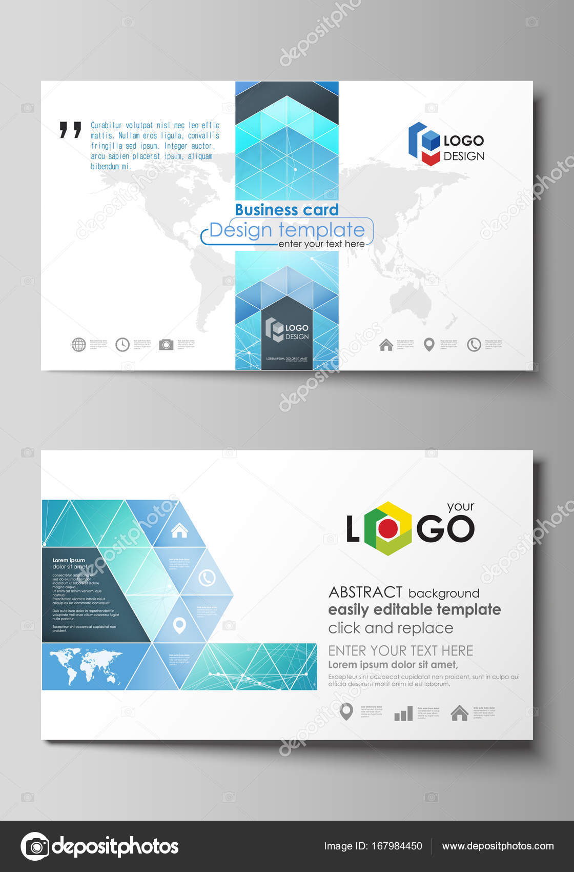 Business card templates easy editable layout abstract vector business card templates easy editable layout abstract vector design template chemistry pattern connecting lines and dots molecule structure wajeb Image collections