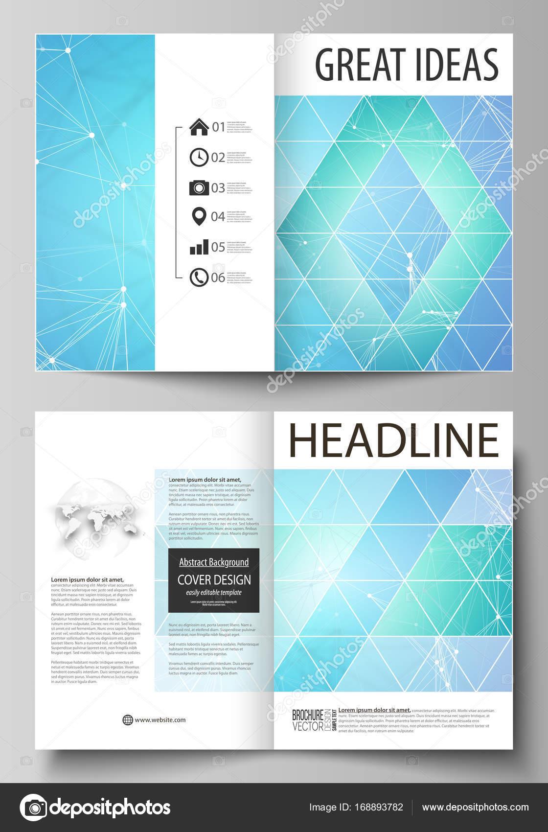 Plantillas de negocio para bi fold brochure, flyer. Cubrir la ...