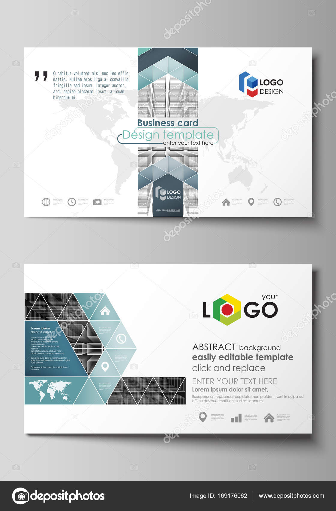 business card templates easy editable layout vector design