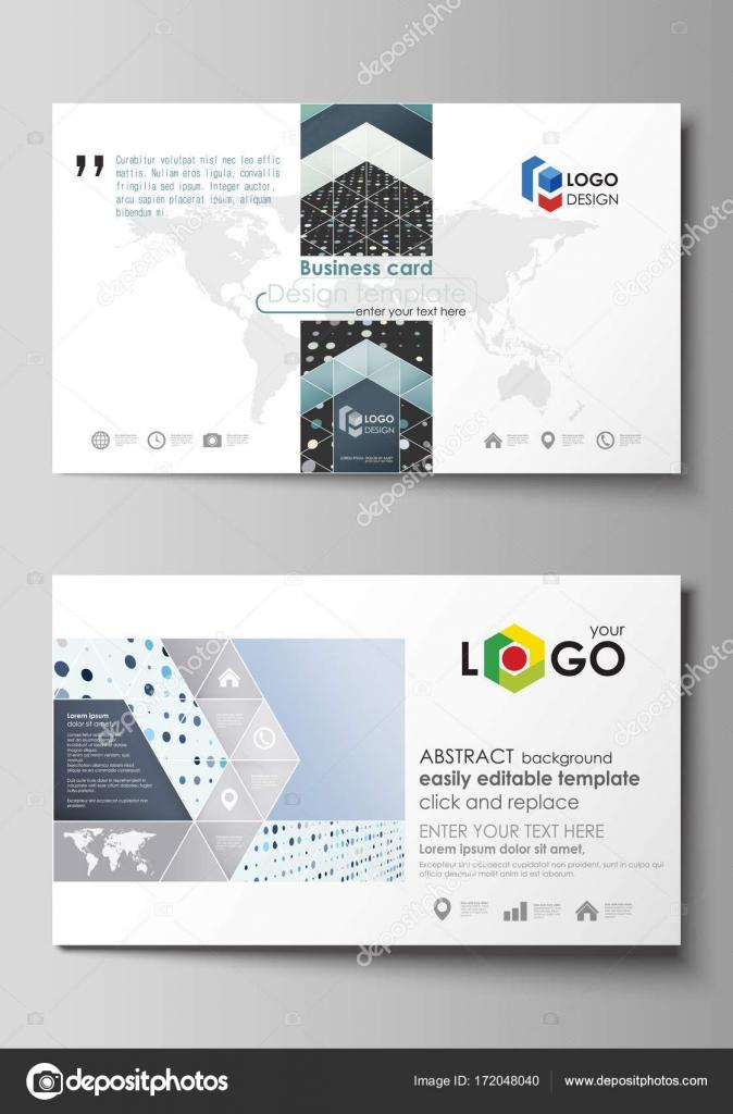 Business card templates easy editable layout abstract template business card templates easy editable layout abstract template soft color dots with illusion flashek Images