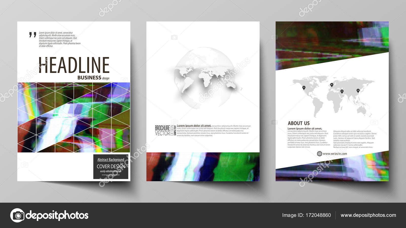 business template for brochure flyer report cover design