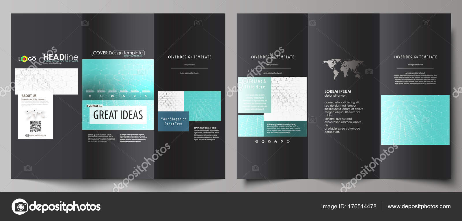 Double Side Tri Fold Brochure Free Printable Tickets Payroll Stubs - Hp tri fold brochure template