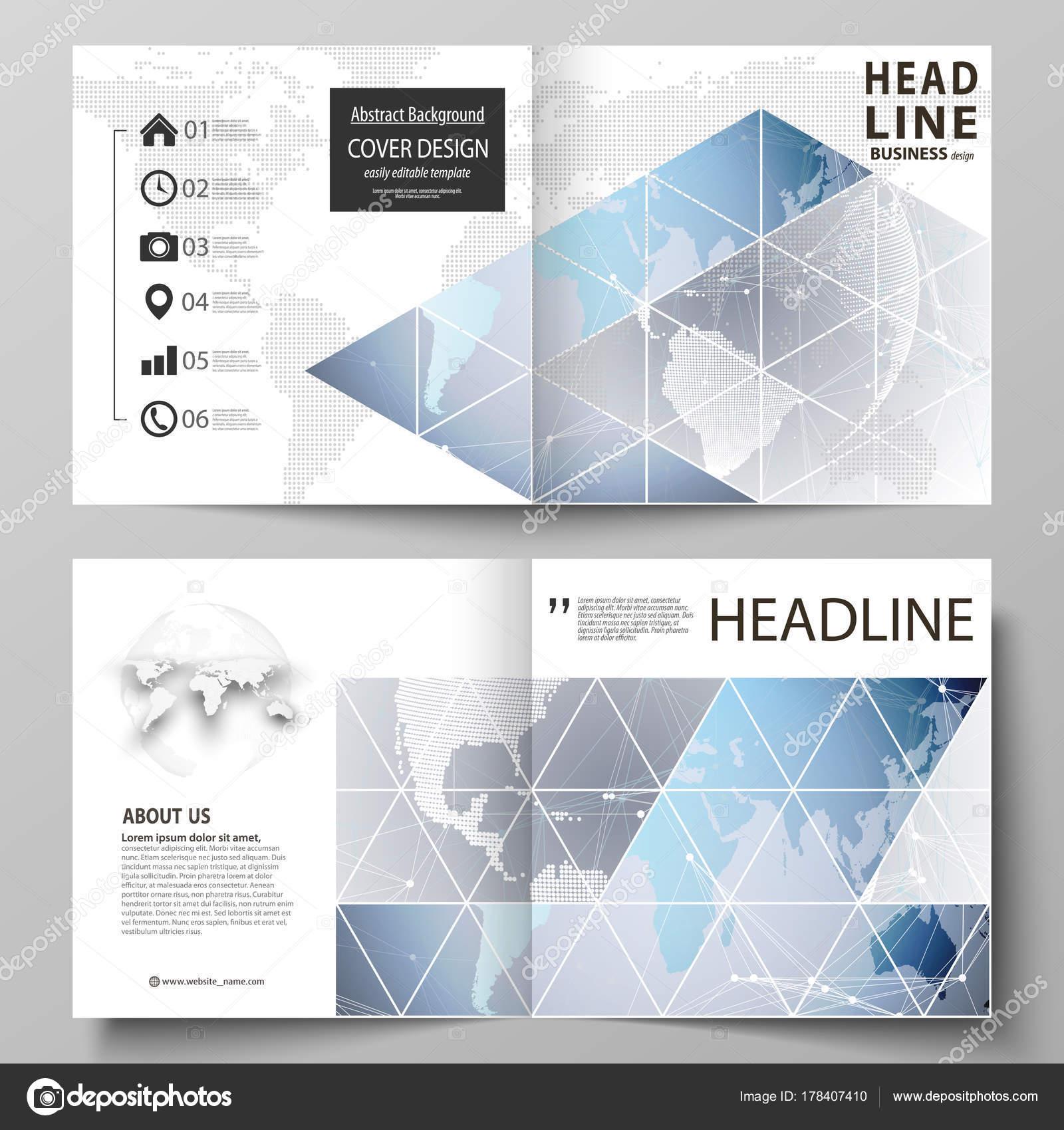 Die Vektor-Illustration des editierbare Layouts von zwei Cover ...