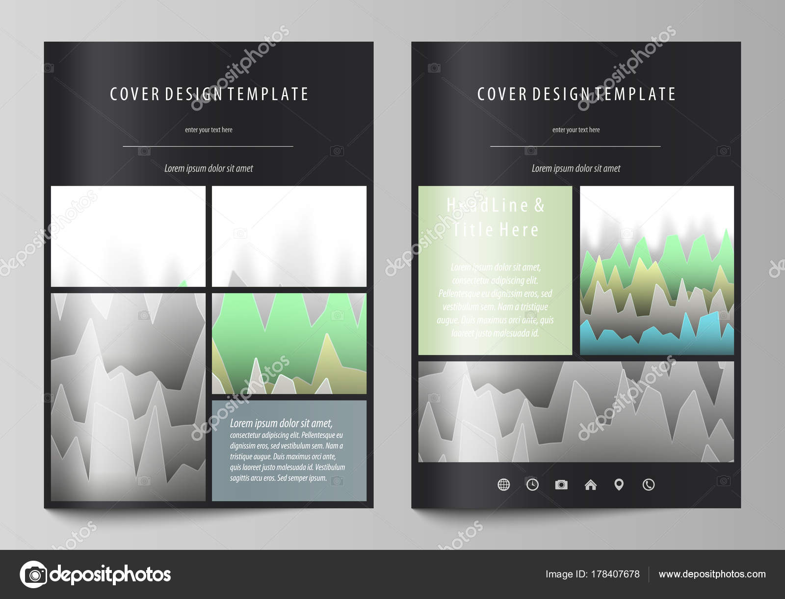 6944ab923f9 ... the editable layout of A4 format covers design templates for brochure