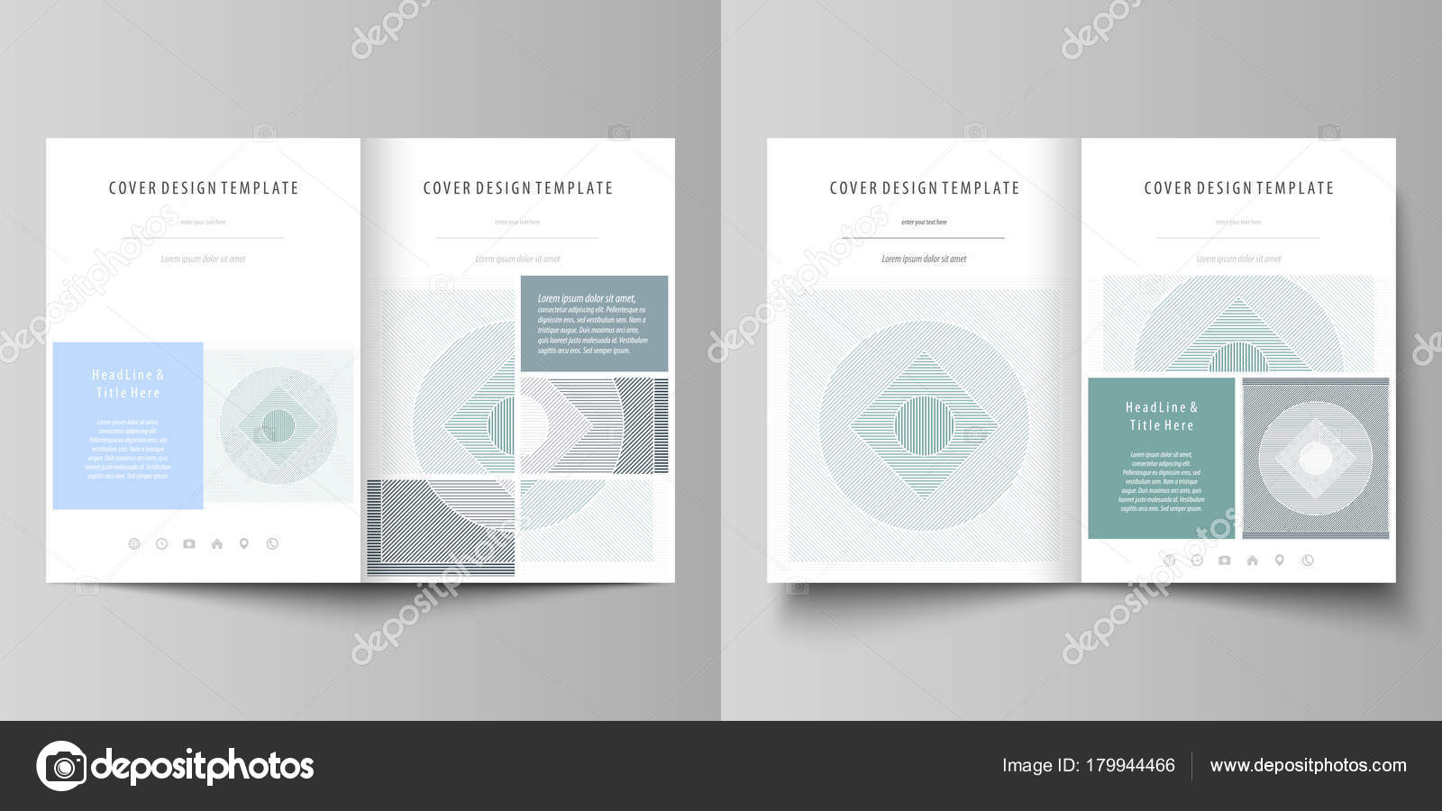 Business Templates For Bi Fold Brochure Magazine Flyer Booklet Or Annual Report Cover Design Template Easy Editable Vector Abstract Flat Layout In A4