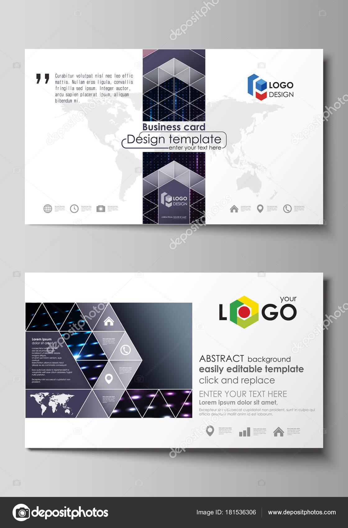 Visitenkarten Vorlagen Layouts Abstrakte Farbige Neon