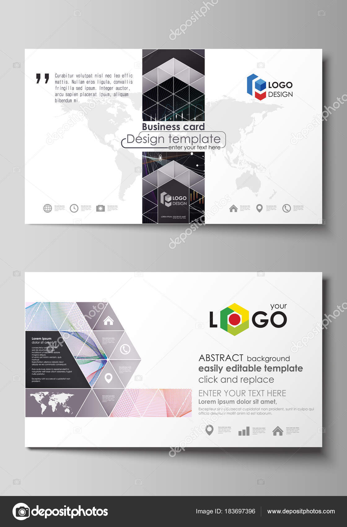 Business card templates easy editable vector layout colorful business card templates easy editable layout abstract vector design template colorful abstract infographic background in minimalist style made from lines accmission Choice Image