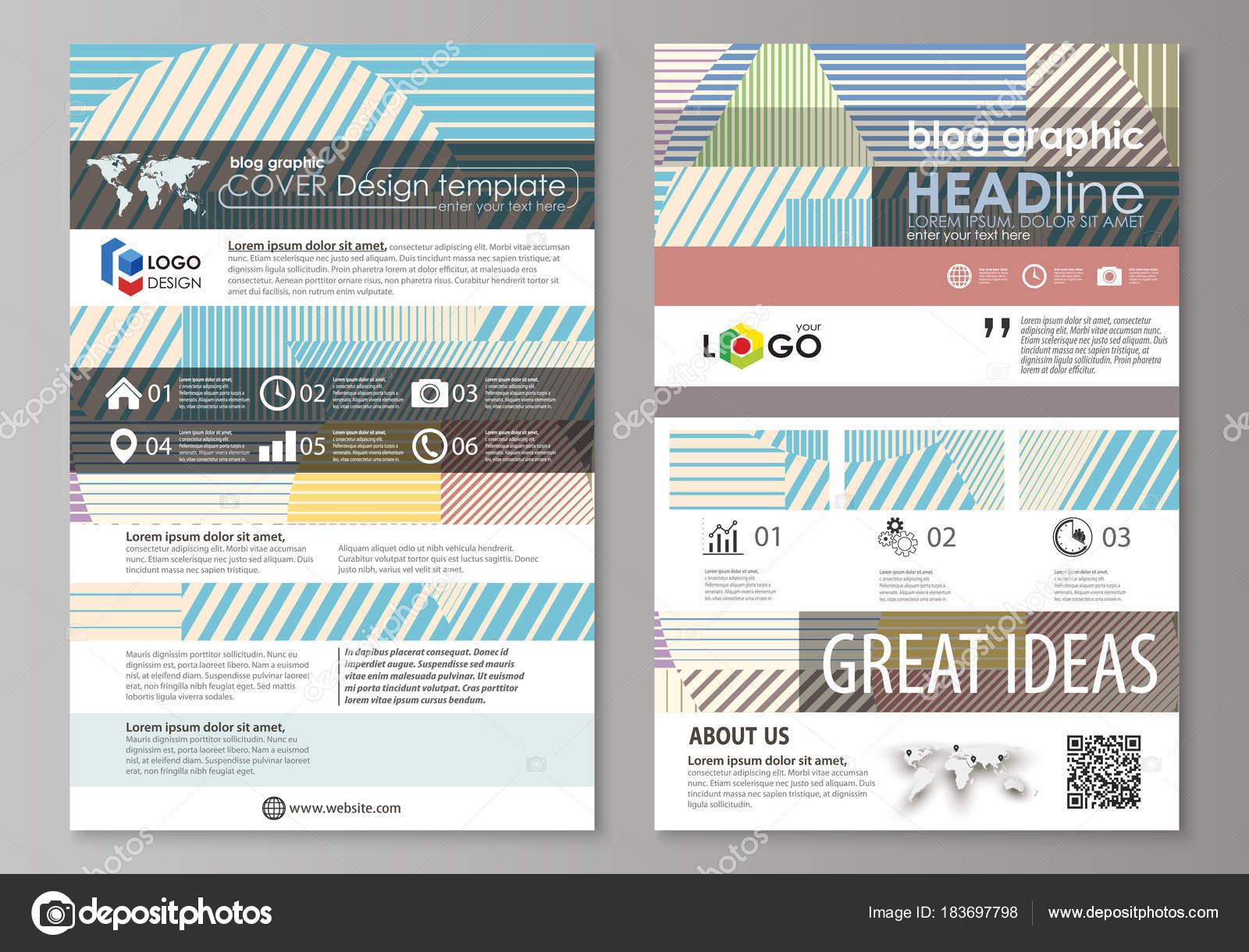 Blog-grafische Business-Templates. Seite Website-Templates, leicht ...