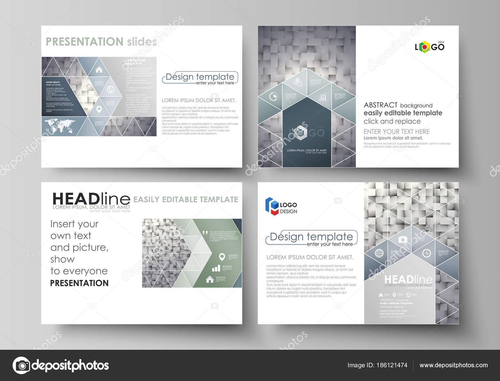 set of business templates for presentation slides easy editable