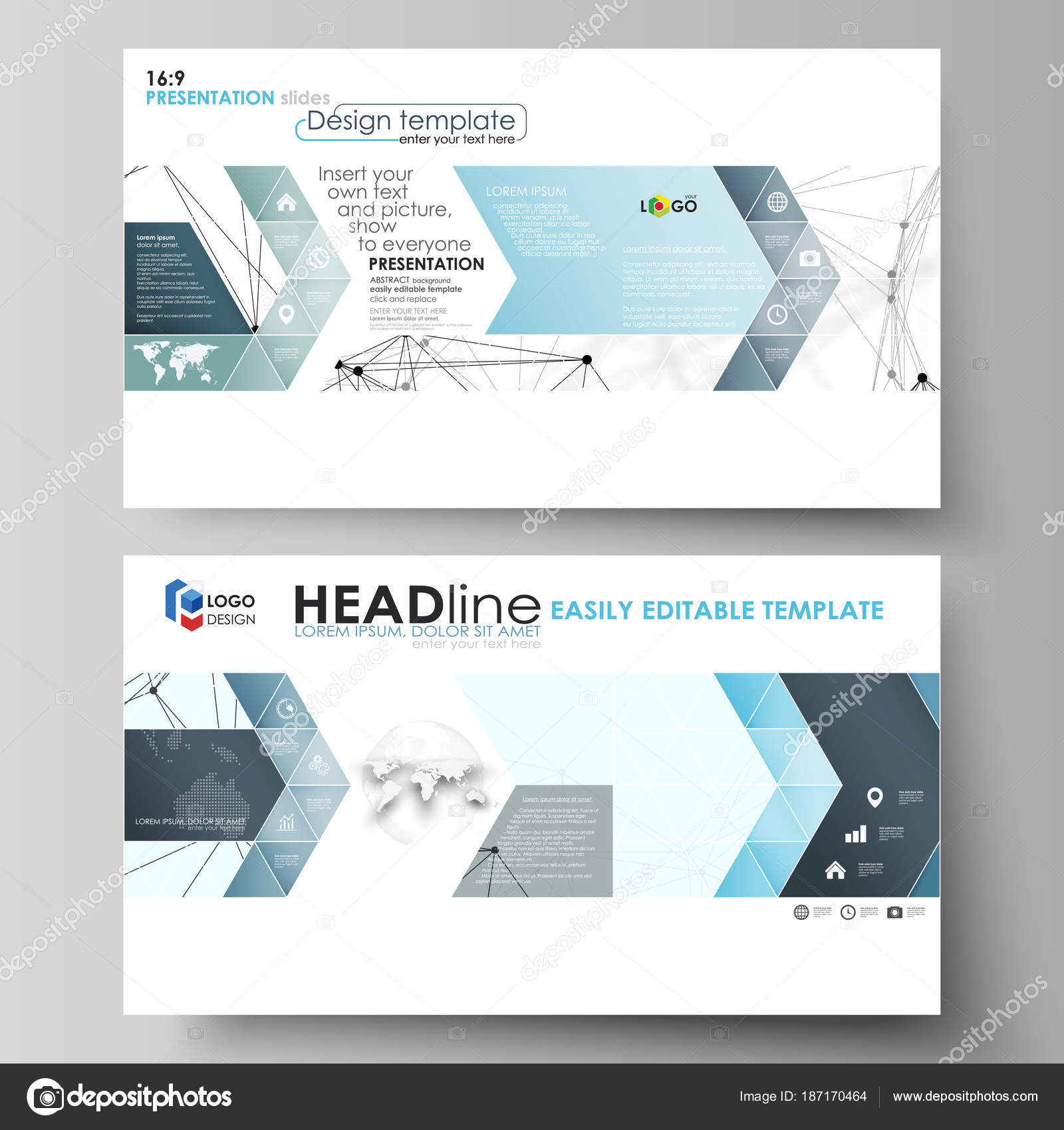 Business templates in HD format for presentation slides Abstract