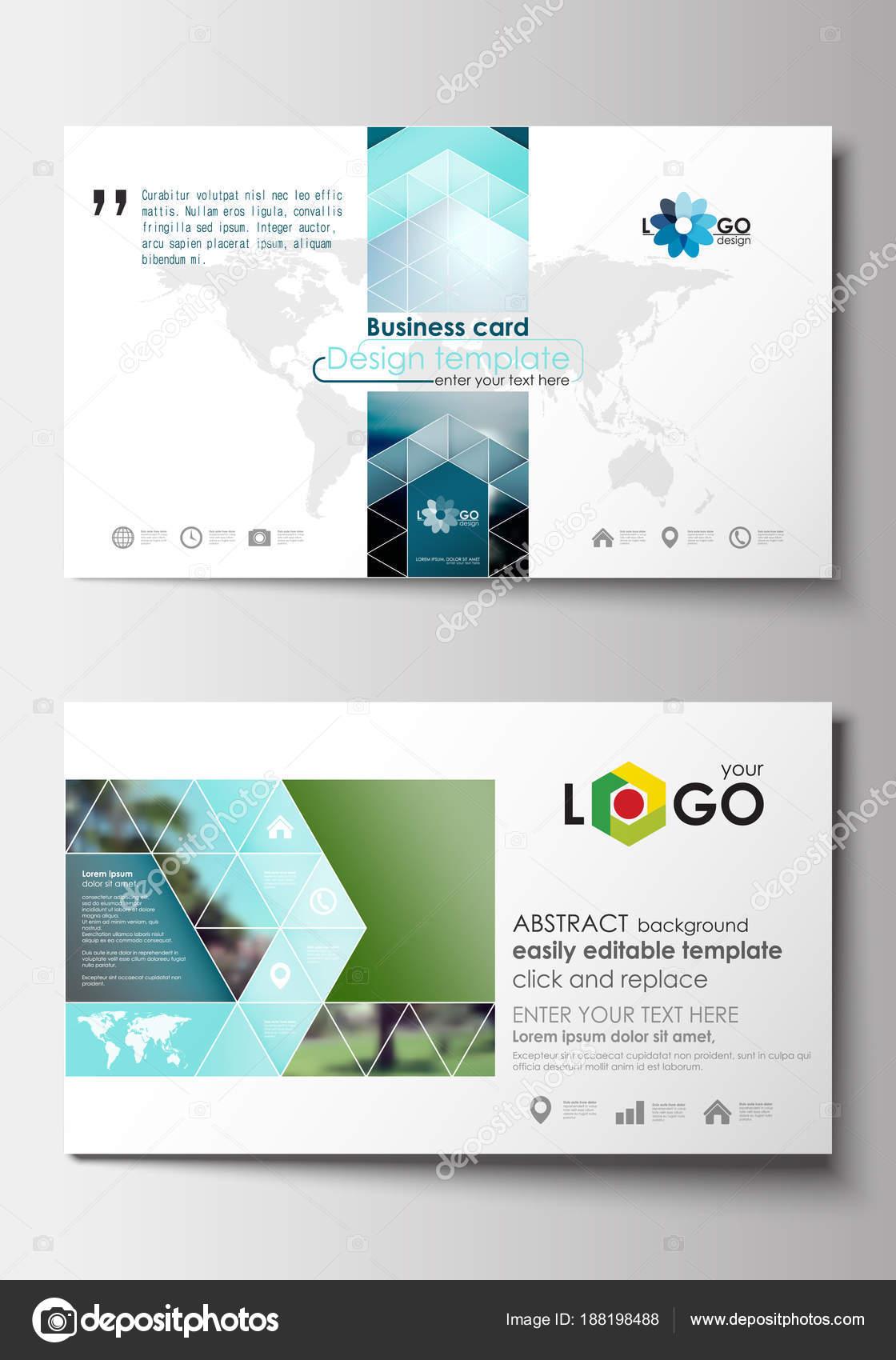 Visitenkarten Vorlagen Flaches Design Blau Reisen