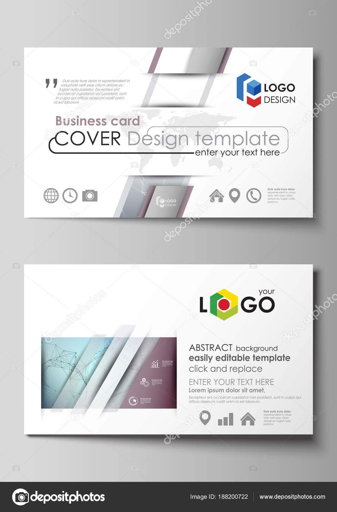 Business card templates easy editable layout abstract vector business card templates easy editable layout abstract vector design template compounds lines and dots big data visualization in minimal style wajeb Images