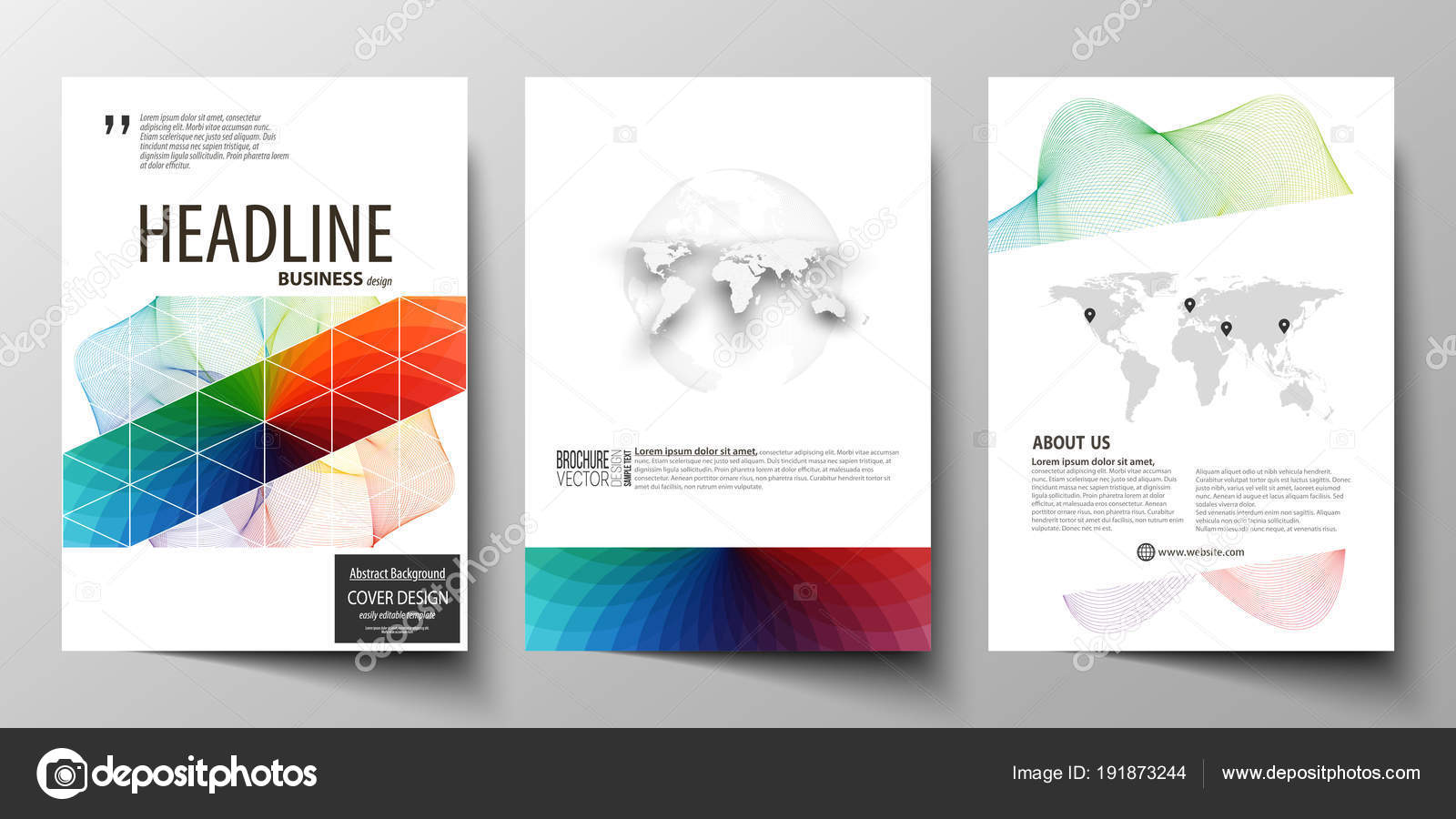 Business templates for brochure, magazine, flyer, annual report ...
