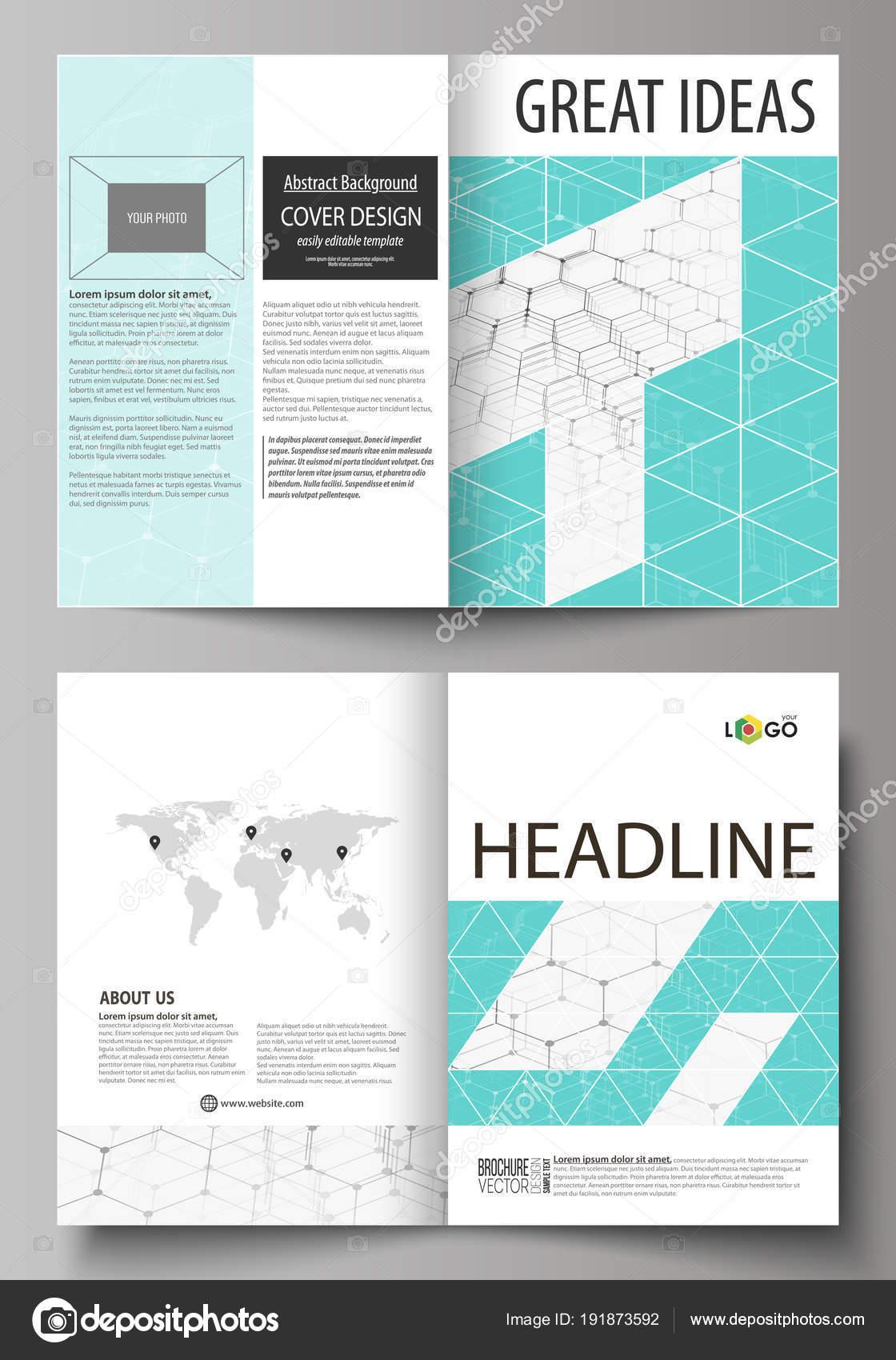 business templates for bi fold brochure flyer booklet report