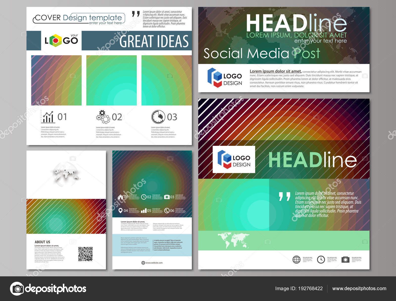 Redes sociales los mensajes de conjunto. Plantillas de negocios ...