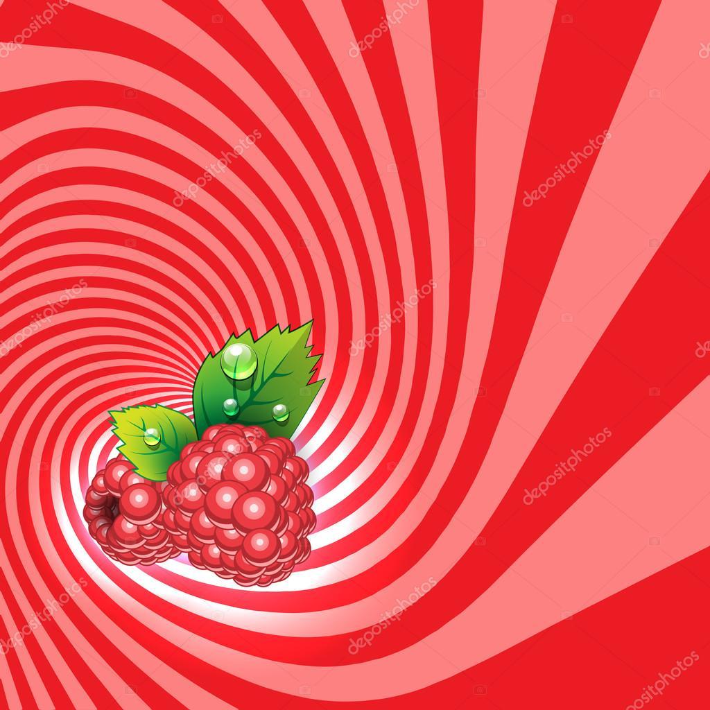 Gestreifte Spirale Himbeer Konditorei Hintergrund. Himbeer Frucht ...