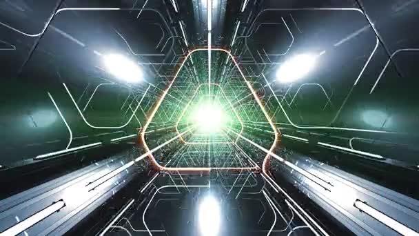 4 k Vj trojúhelníkové 3d tunel