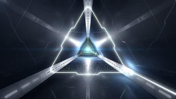 Video Full Hd Vj trojúhelníkové 3d tunel