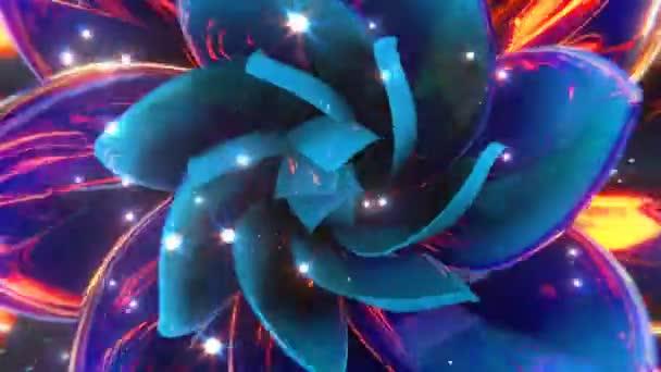 kvetoucí abstraktní květ