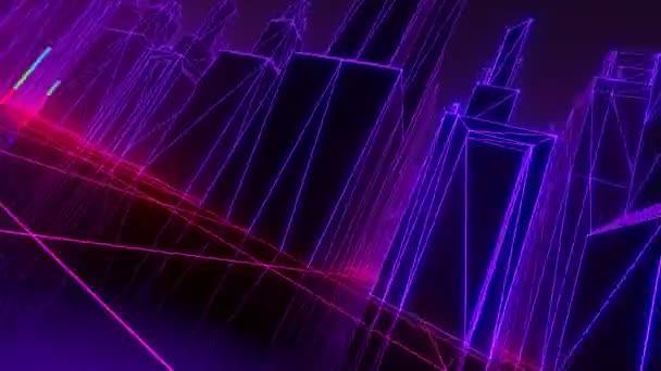 Retro futuristický město VJ