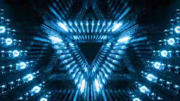 VJ trojúhelník žárovka tunel