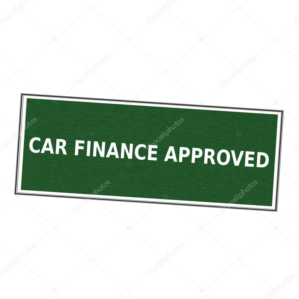 Auto-Finanzierung genehmigt weißen Formulierung auf Bilderrahmen ...