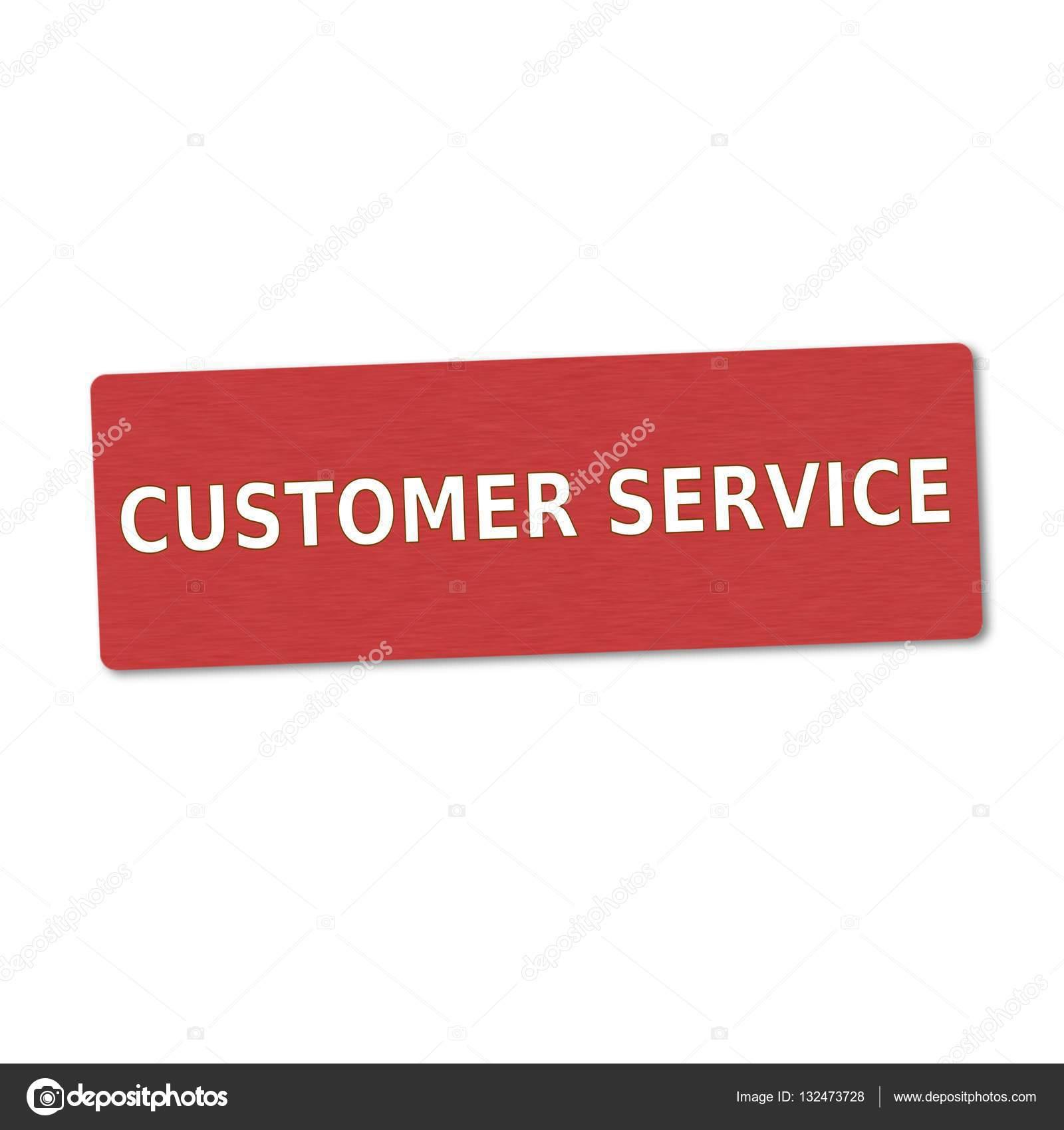 redacción de cliente servicio blanco sobre fondo rojo de madera ...