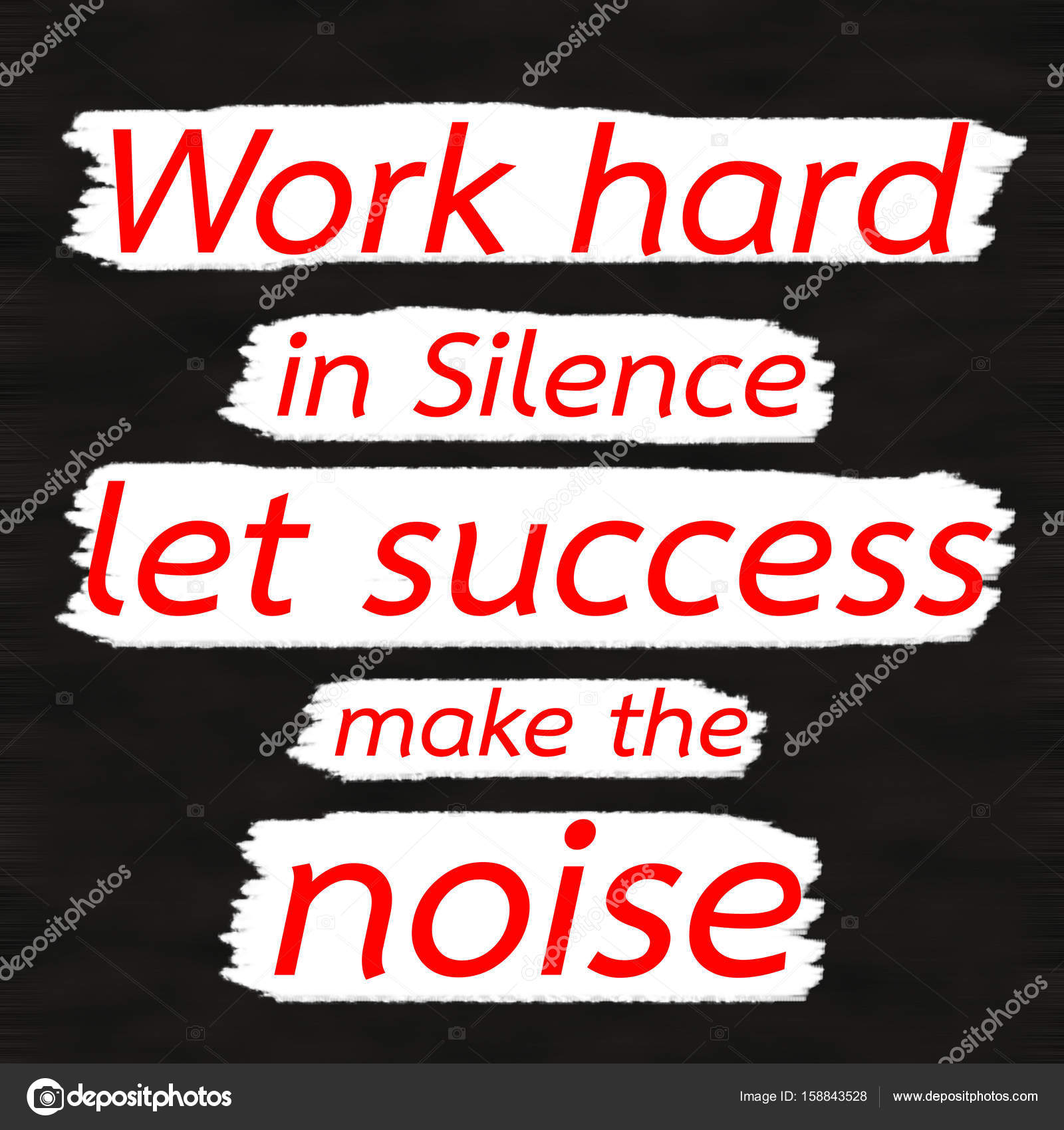 Work Hard In Silence Let Success Make The Noisecreative Inspiring