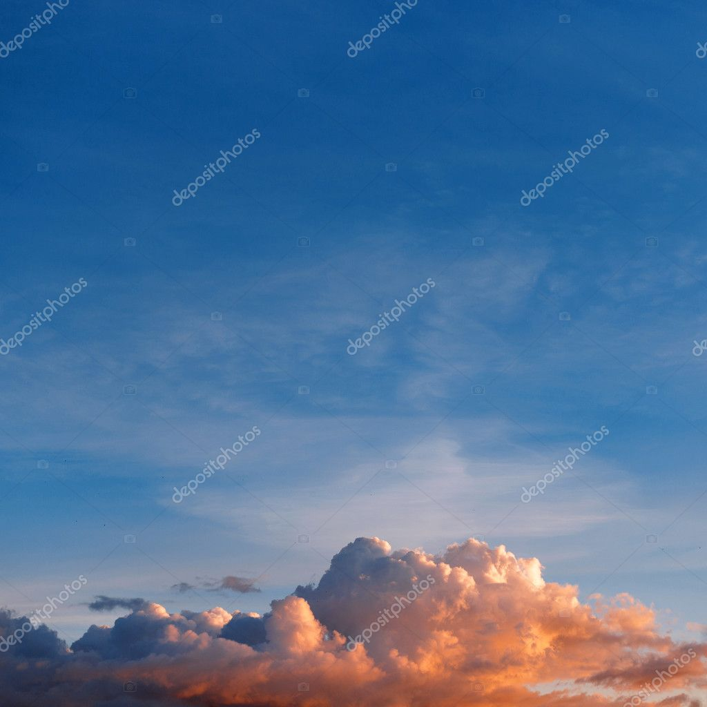 Beautiful blue sky with amazing clouds