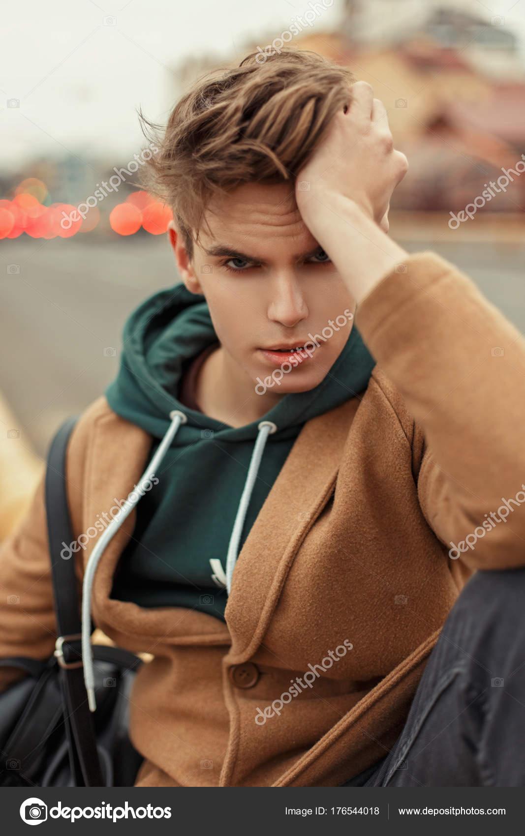 taglio uomo capelli cappotto