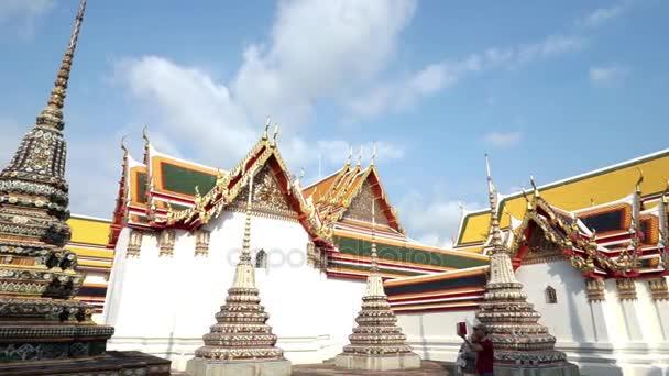 Templom tető Wat po Thai buddhista templom, Dolly lövés