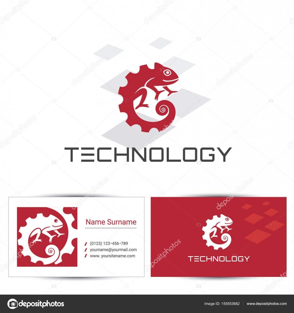 Technologie Chamäleon Symbol Stockvektor 3xy 155553682