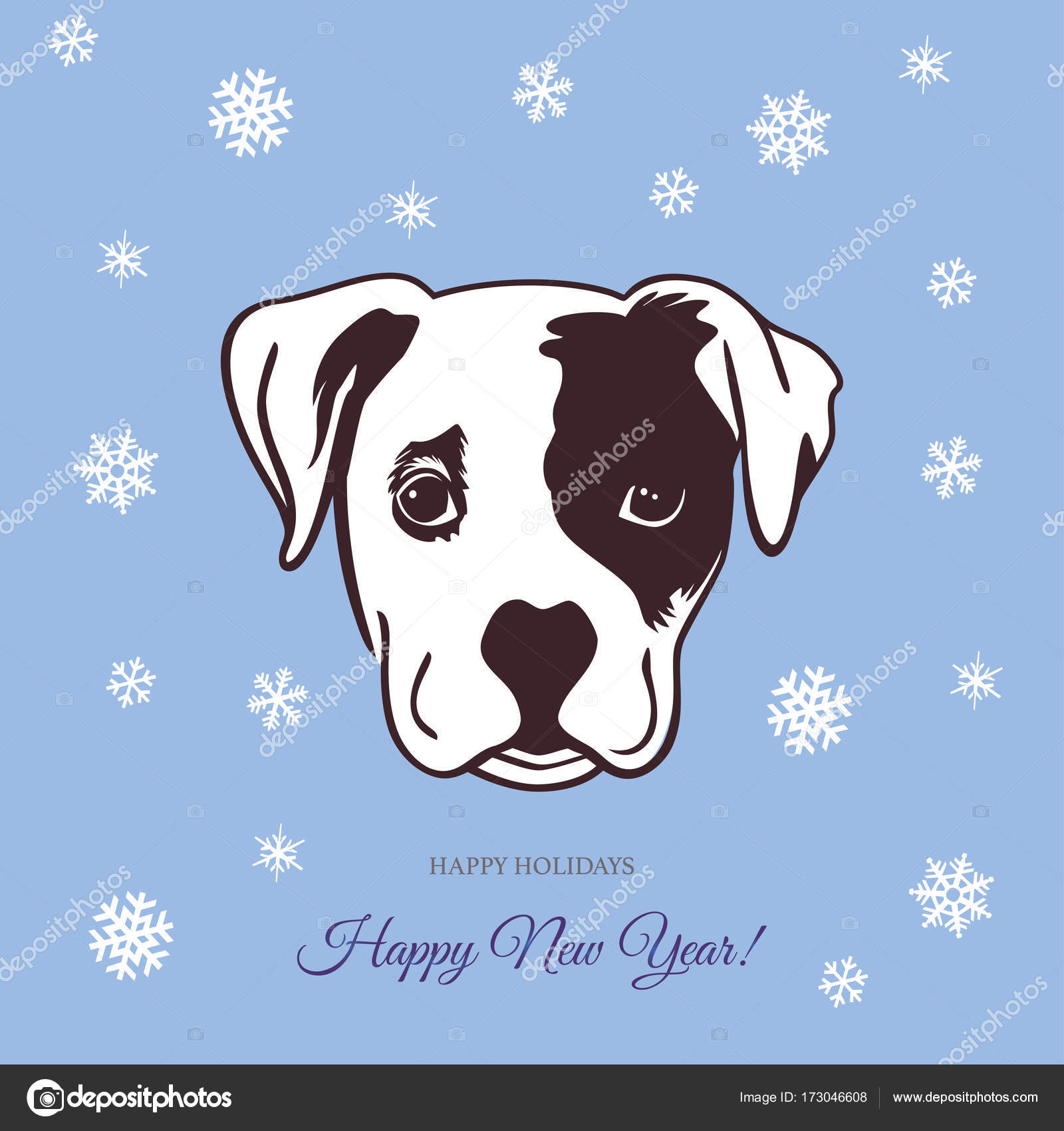 Chinese New Year 2018 Festive Vector Card Design Cute Dog Stock