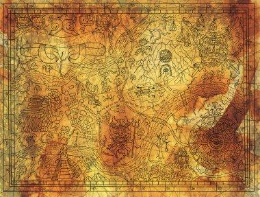 Antique Maya or pirate map